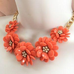 Jewelry - Orange Floral Necklace